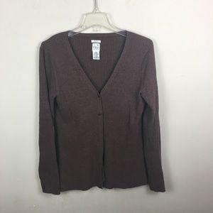 Duo maternity brown sweater cardigan